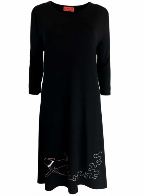 Kjole Bazinga Dogella Black