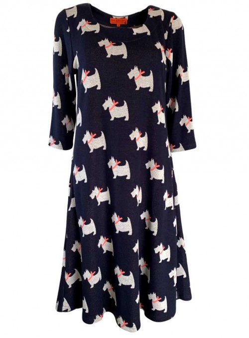 Str. M kjole Catja Scottie fra Dot & Doodle's