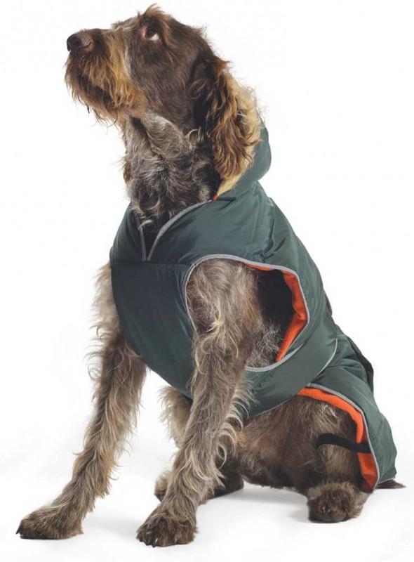 Hundefrakke grøn Parkacoat