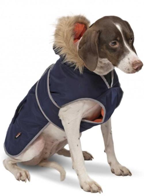 Hundefrakke navy Parkacoat