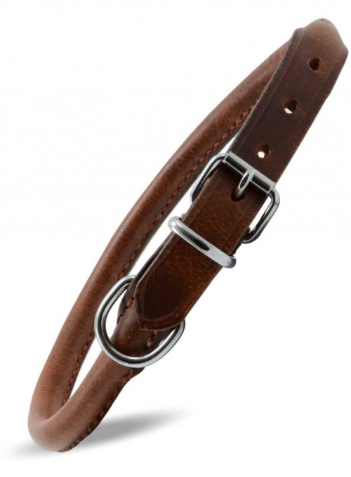 Rundsyet læder halsbånd Vintage