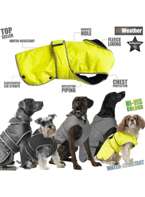 Hundefrakke Stormguard HI-VIS dækken