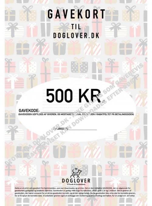 Gavekort 500 kr. med pakke-motiv