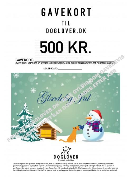 Gavekort 500 kr. med jule-motiv