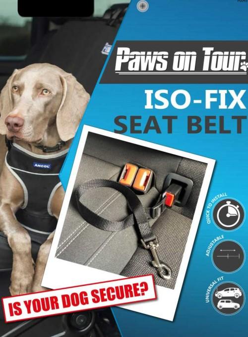 ISOFIX hunde-sikkerhedssele til bilen.