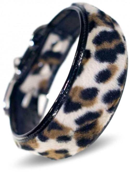 Myndehalsbånd desiger halsbånd håndlavet, Leopard