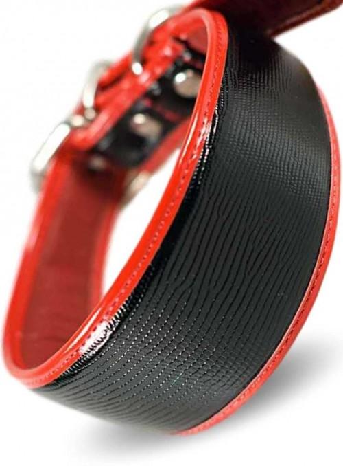 Designer halsbånd til mynder håndlavet Reptile