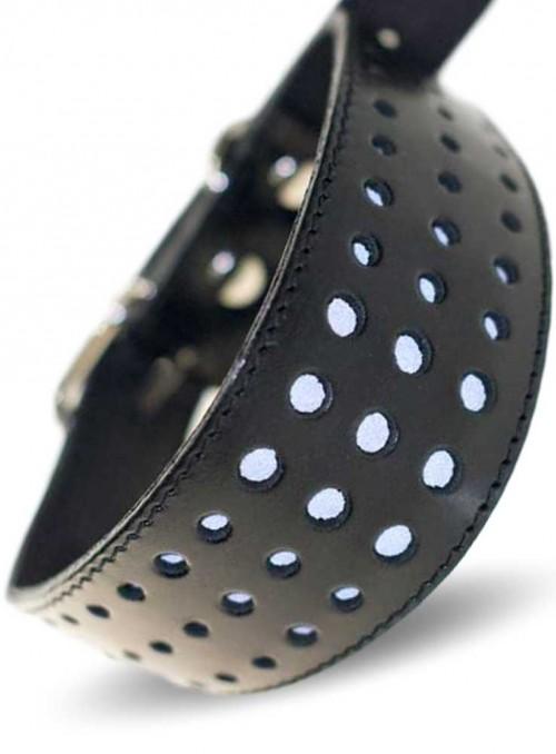 Designer myndehalsbånd med refleks, håndlavet, Reflective
