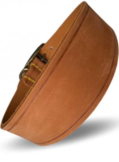 Bredt læder halsbånd til mynder eller langhalset hund Timber
